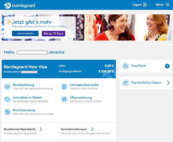 Barclaycard Konto