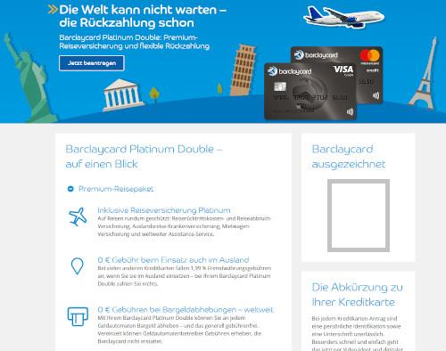 Platinum Paket von Barclaycard