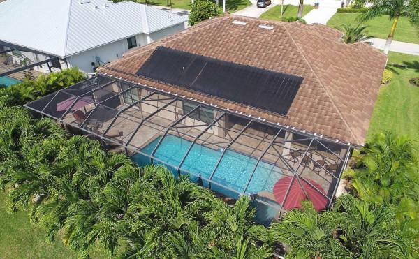 Außenbereich vom Ferienhaus in Cape Coral