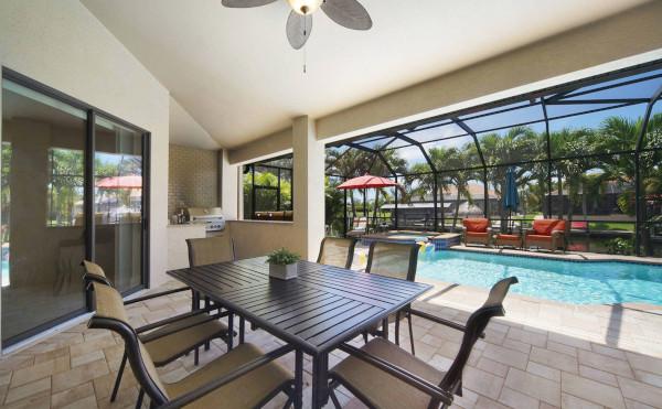 Lanai beim Ferienhaus in Cape Coral