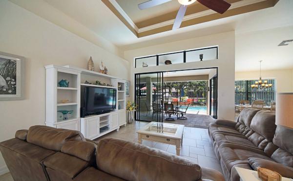 Wohnzimmer vom Ferienhaus in Cape Coral