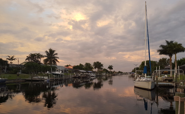 Cape Coral: Kanal in Florida