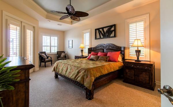 Schlafzimmer in der Cape Coral Villa