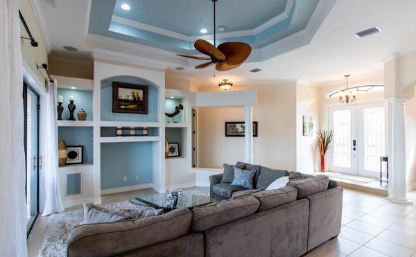 Wohnzimmer in der Cape Coral Villa