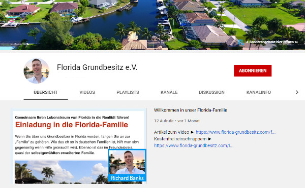 Florida Grundbesitz Youtube