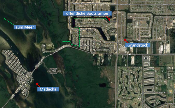 Grundstück in Florida – Cape Coral nahe Matlacha