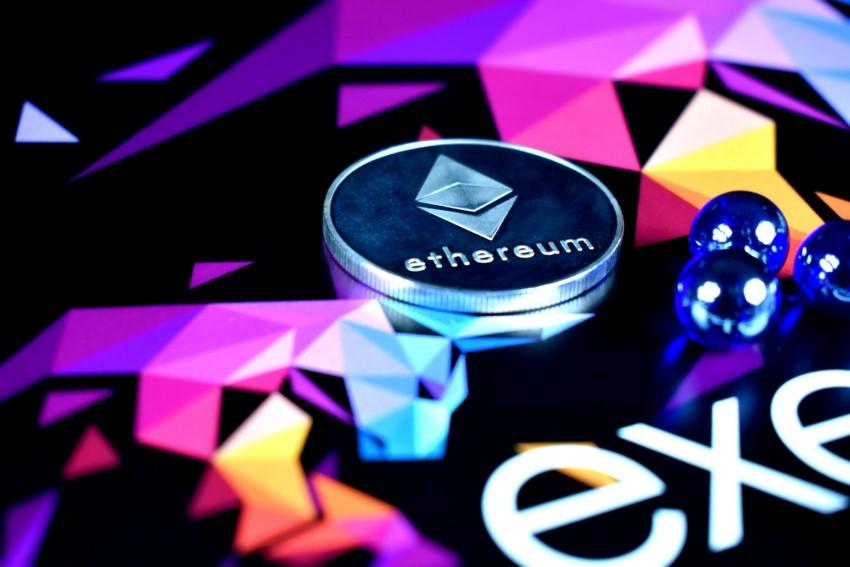 Etherum symbolisch als Münze