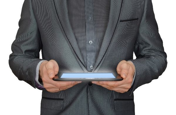 Mit dem Tablet online …
