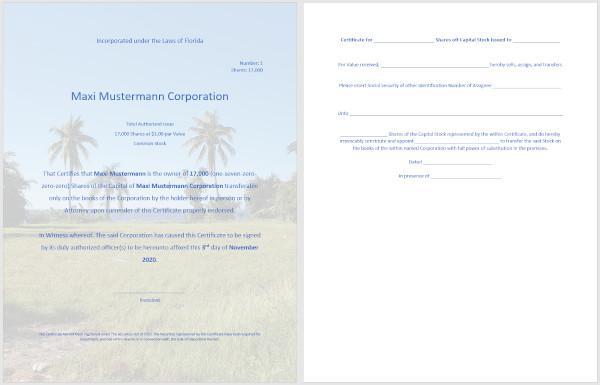 Muster Corporation Florida