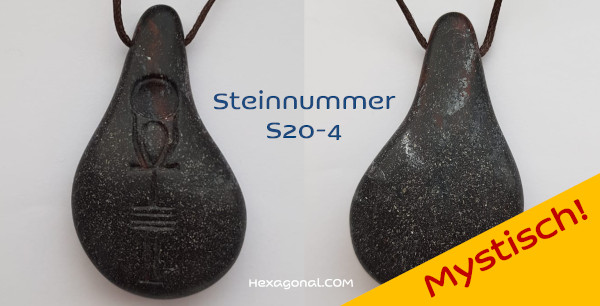 Stein der Harmonie schwarz mystisch