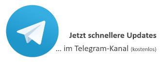 Jetzt schnellere Updates im Telegram-Kanal
