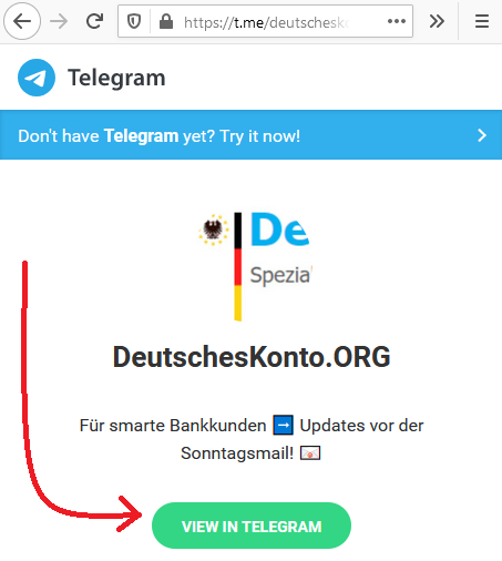 Telegram DeutschesKonto.ORG
