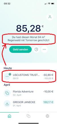 Tomorrow Regenwald Zahlung