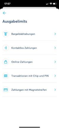 TransferWise App Einstellungen