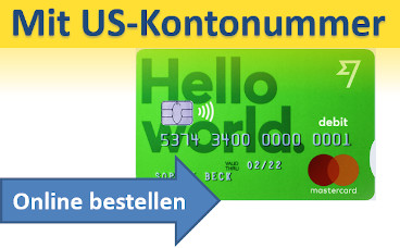 Borderless-Konto mit Mastercard