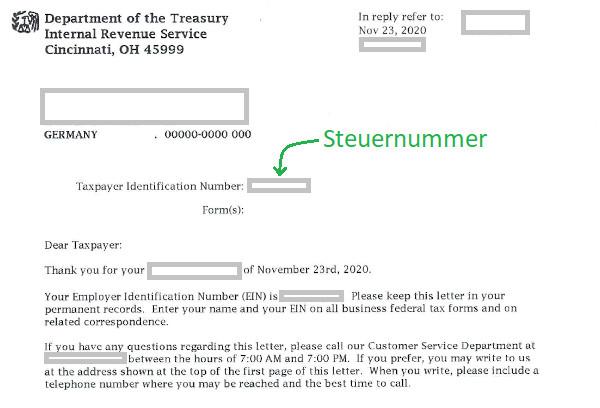 US-Steuernummer
