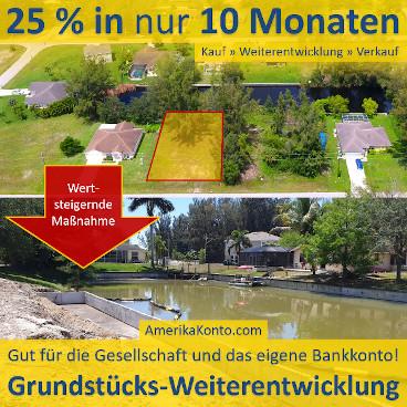 Grundstück: 25 % in 10 Monaten