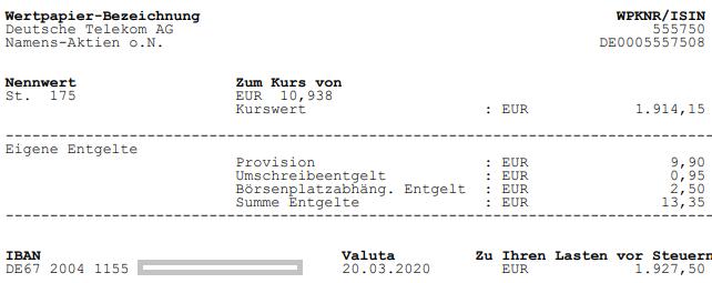 Aktienkauf Deutsche Telekom