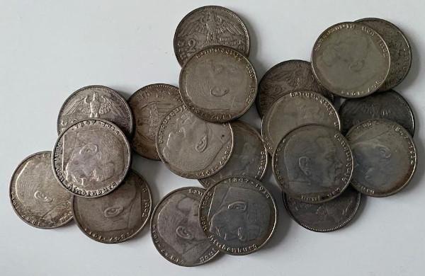 Alte deutsche Silbermünzen