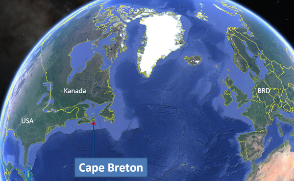 Cape Breton: Karte