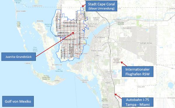 Cape Coral, Florida – großes Grundstück