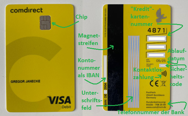 Comdirect Visa Debit Card