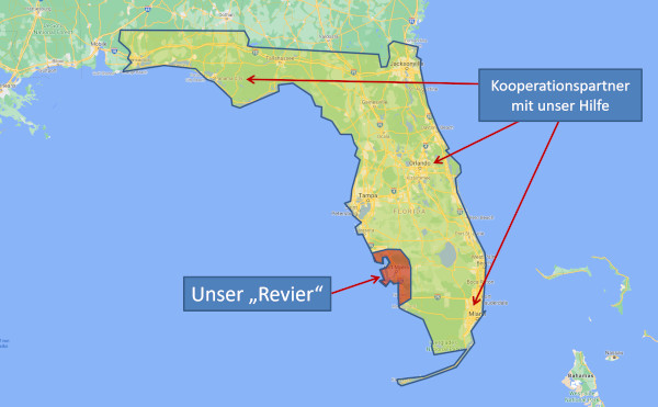 Unser Revier in Florida