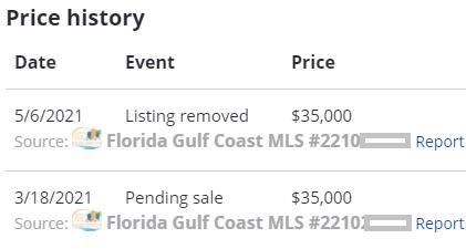 listing remove