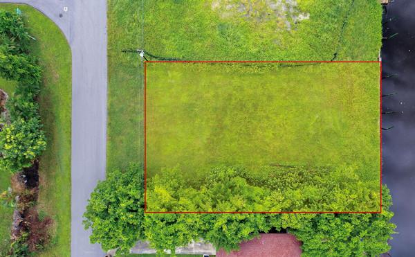 Umriss des Grundstücks in Cape Coral