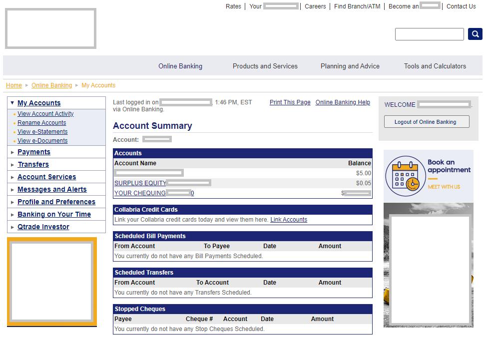 Online-Banking in Kanada
