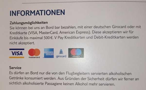 TUIFly Debitkarten nicht akzeptiert
