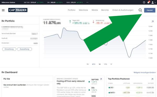 Captrader Währungstausch USD EUR