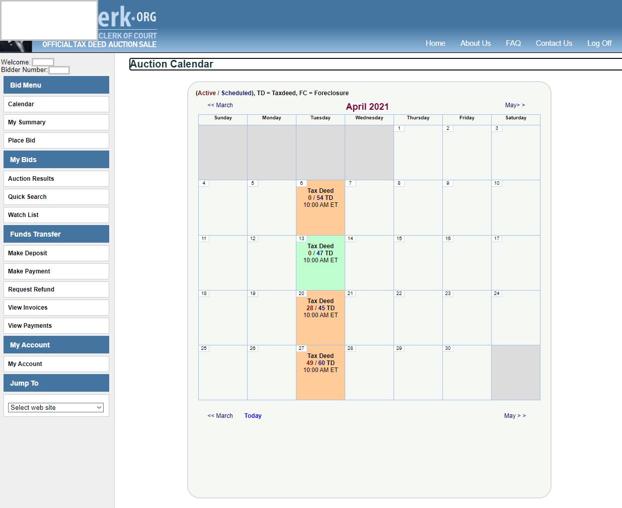 Tax Deed Kalender