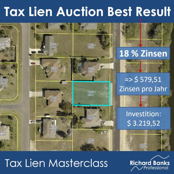 Tax Lien Auction best result