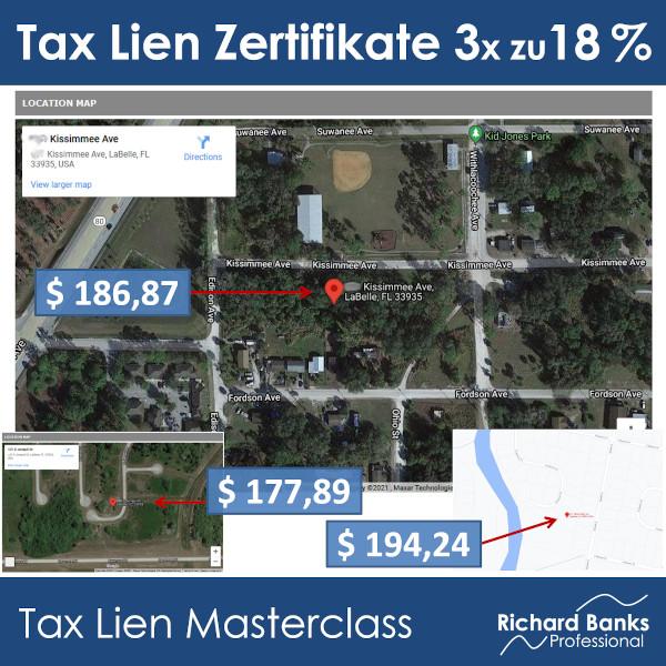 Tax Lien Zertifikat zu 18 Prozent