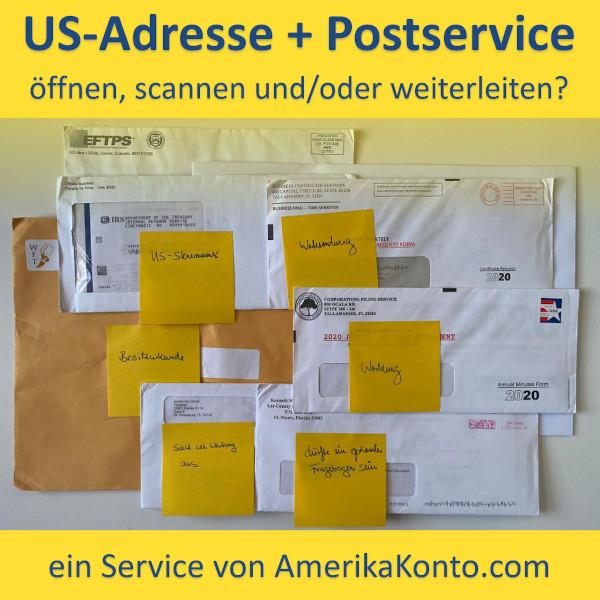 US-Adresse und Postservice