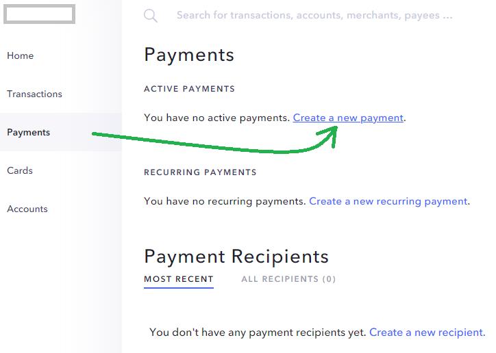US Bankkonto Check Zahlung