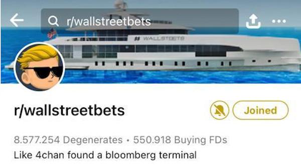 Wallstreetbets bei reddit