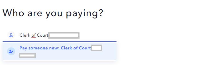 Überweisung an Clerk of Court