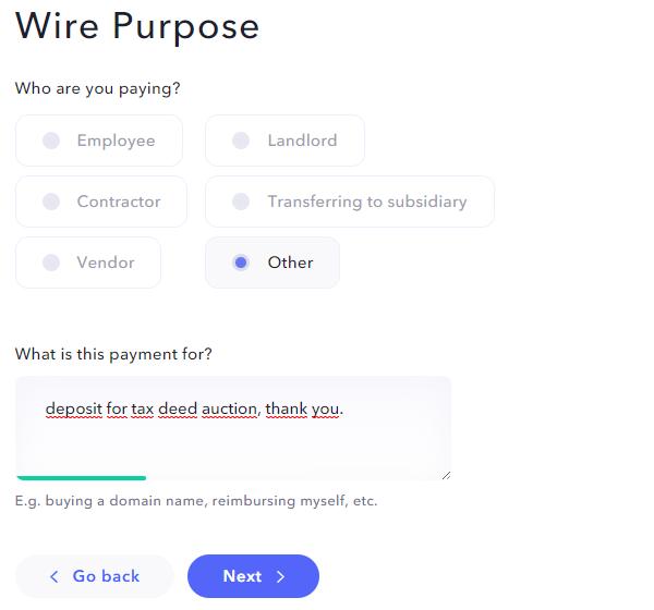 purpose for wire