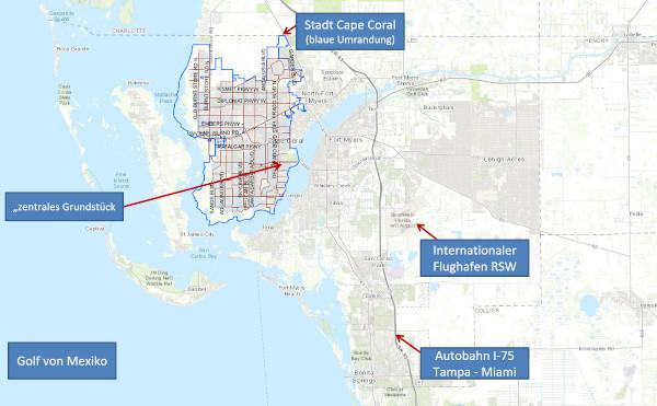 Cape Coral, Florida – Grundstück in zentraler Lage mit Golfzugang