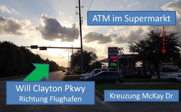ATM im Exxon-Supermarkt
