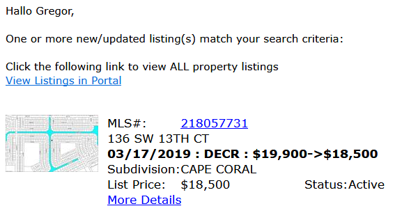 MLS Listing Cape Coral