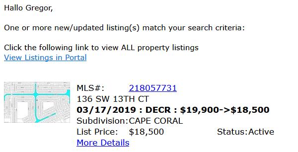 MLS Listing Cape Coral