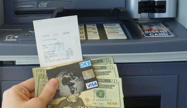 visa card geld abheben