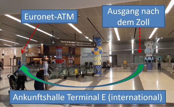 Euronet ATM in Houston Airport