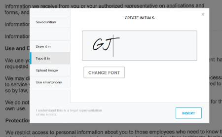 Digitale Unterschrift bei der Title Company beim Kauf / Verkauf eines Grundstücks