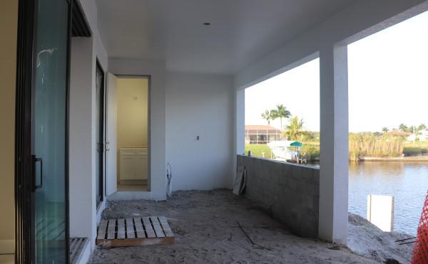 Immobilienbesichtigung im Bau