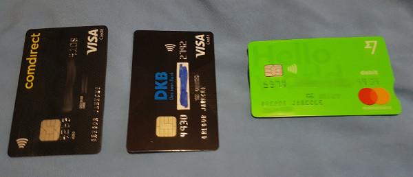 Meine Kreditkarten auf Reise