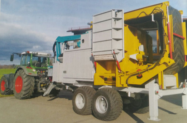 Mobile shredder plant